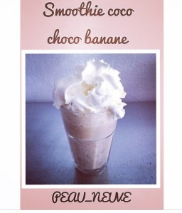 Smoothie choco coco banane