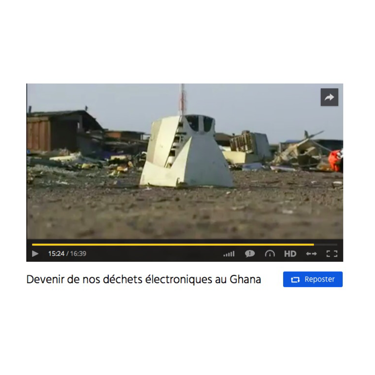 Devenir de nos déchets électroniques au Ghana