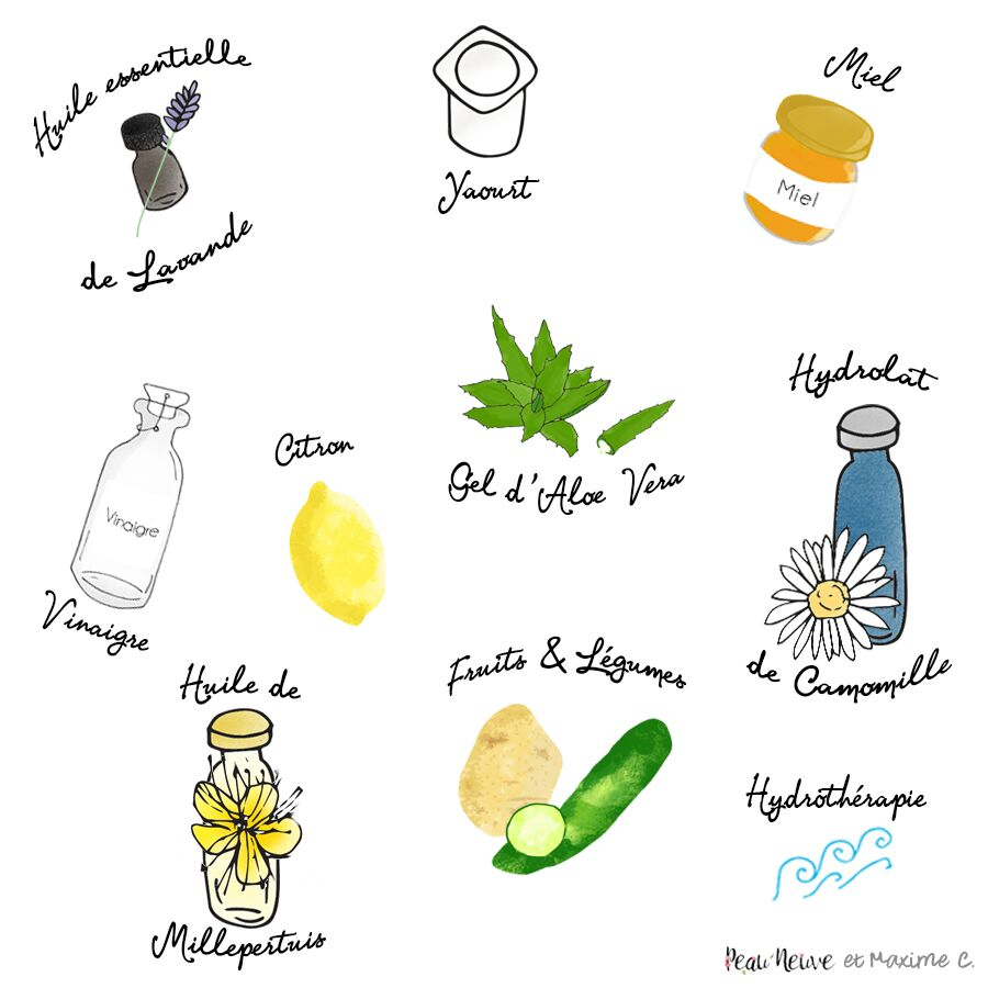 10 rem des naturels pour calmer les coups de soleil - Remede naturel coup de soleil ...