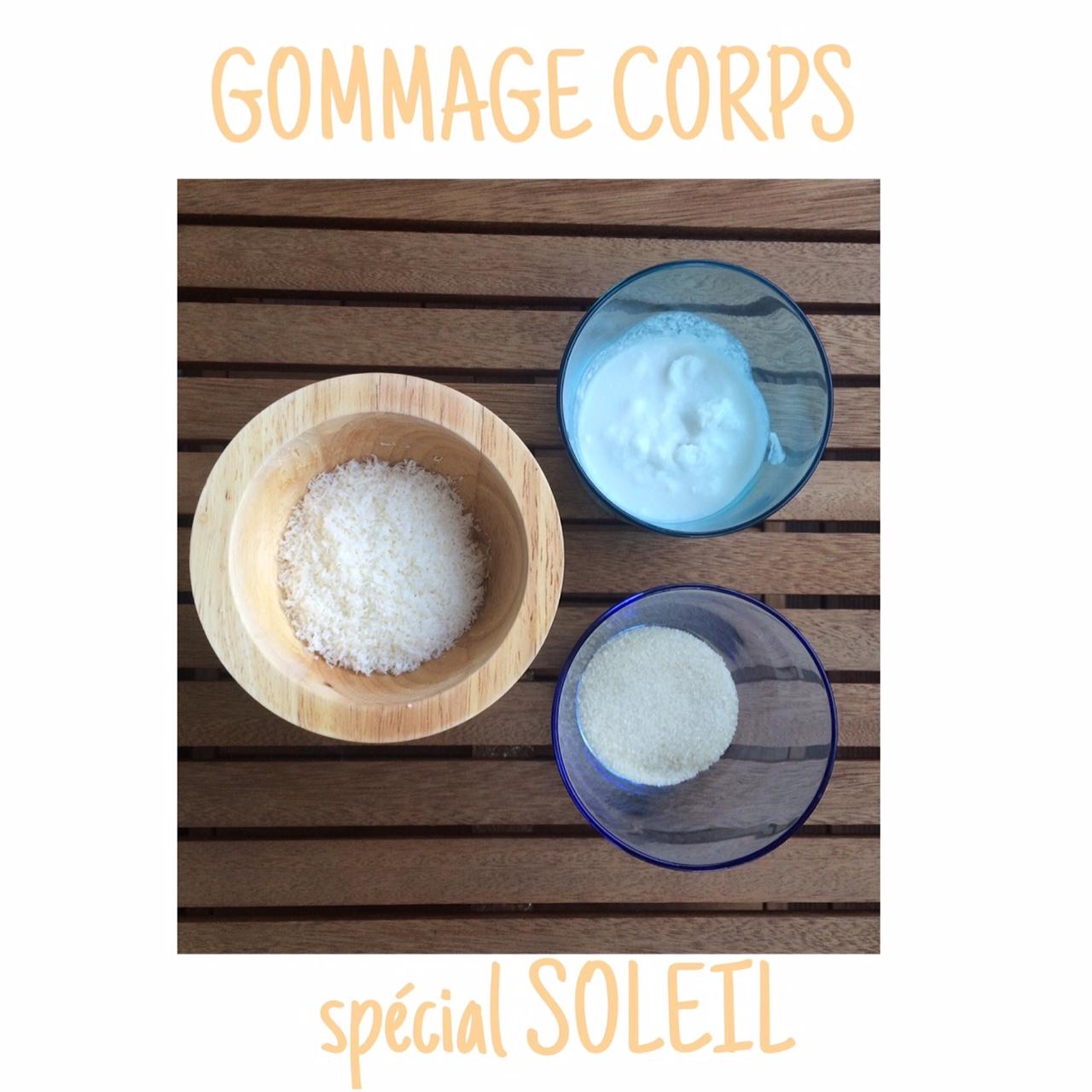 Gommage CORPS – spécial SOLEIL