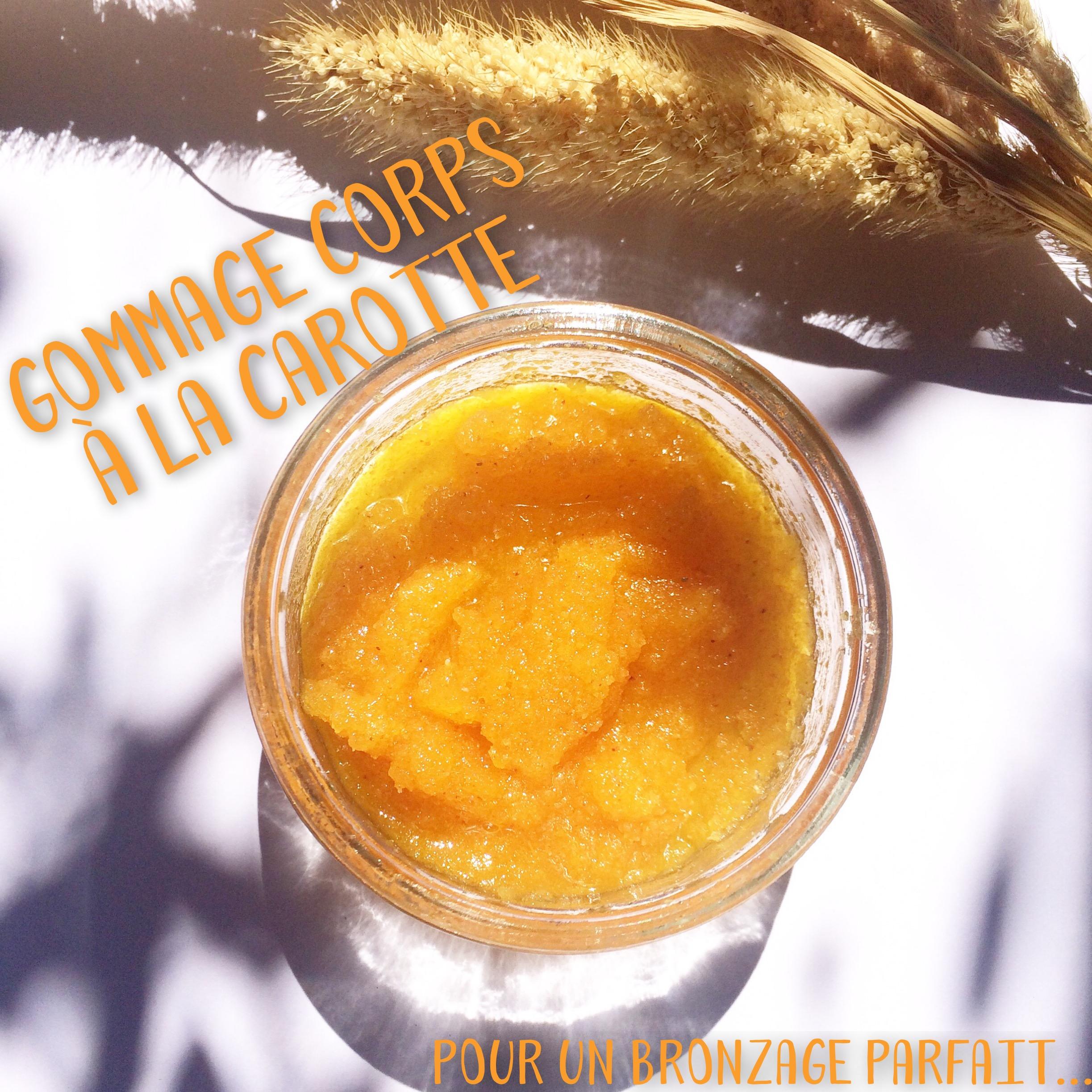 Gommage CORPS à la carotte pour un bronzage parfait