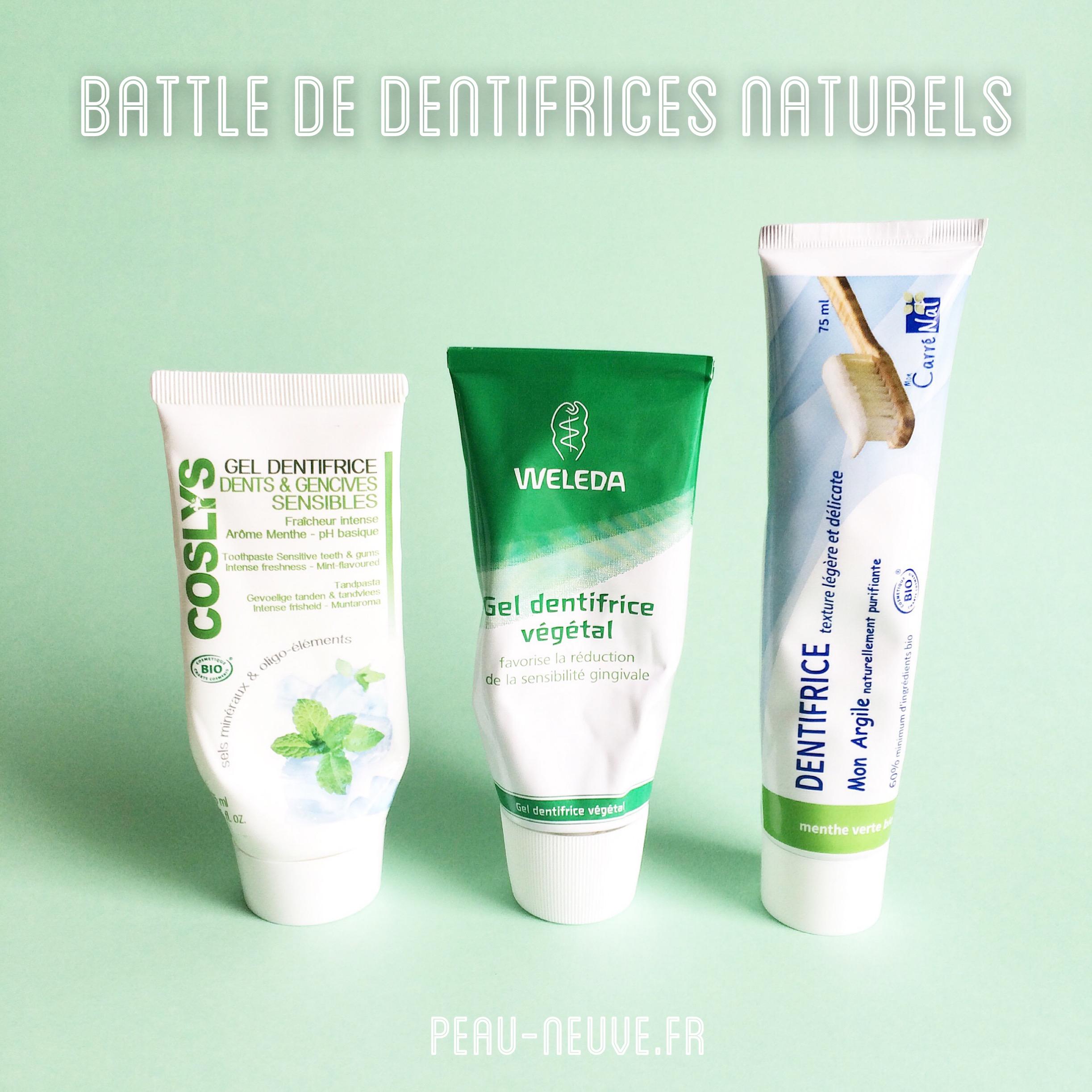 BATTLE DE DENTIFRICES NATURELS