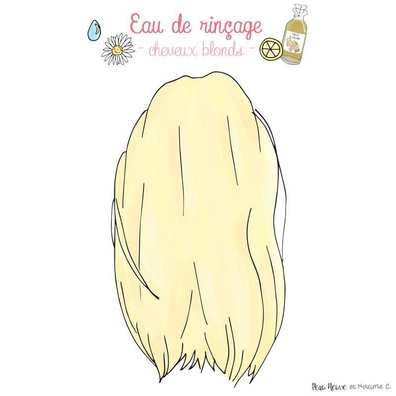 Eau de rinçage pour les blondes