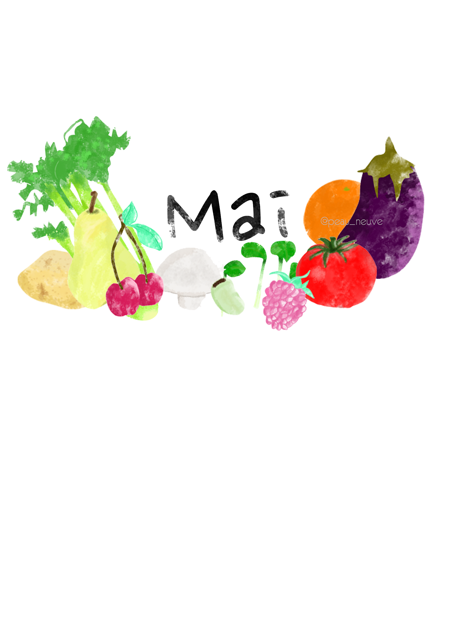 Le mois MAI - illustration - printable