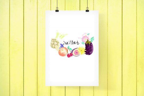 L'affiche JUILLET - #PRINTABLE
