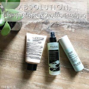 ABSOLUTION, la marque des peaux sensibles et acnéiques
