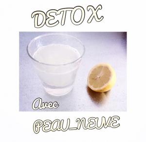 eau citronnée detox