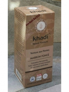 Coloration Khadi marron foncé
