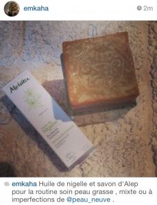 savon d'alep acne avant apres
