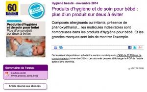 Produits dangereux pour bébé