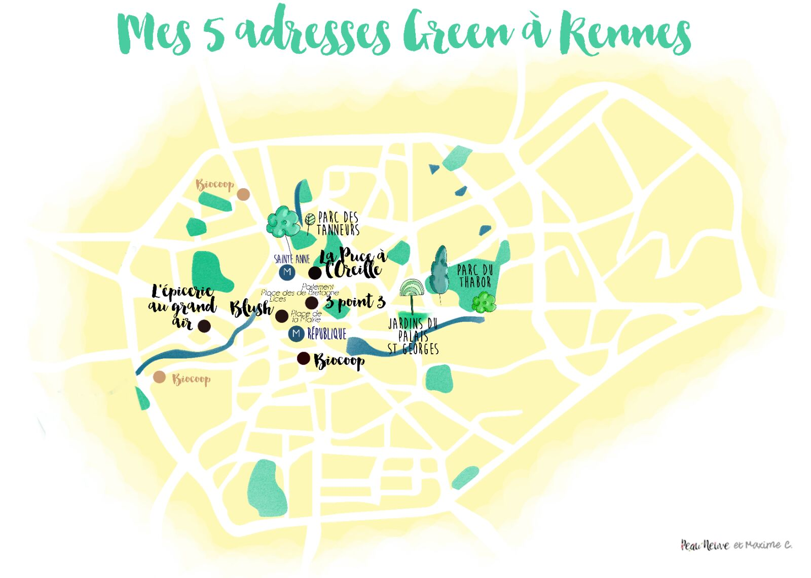 MES 5 ADRESSES GREEN À RENNES