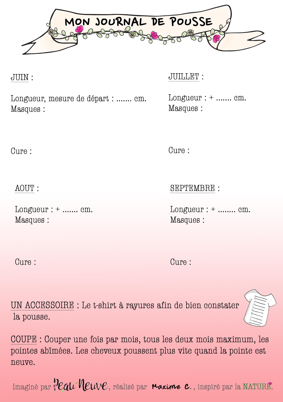 MON JOURNAL DE POUSSE