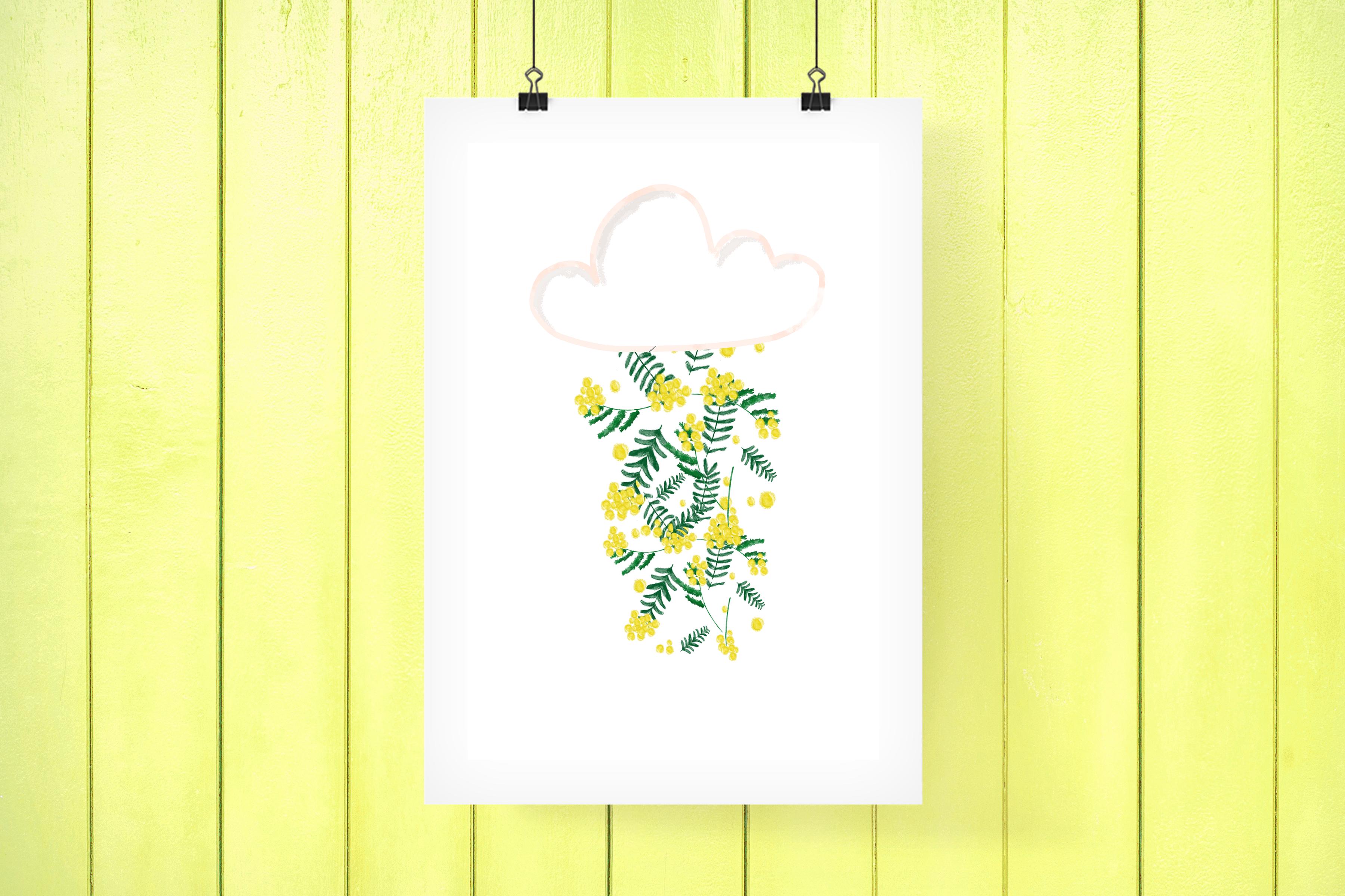 Pluie de mimosa #Printable